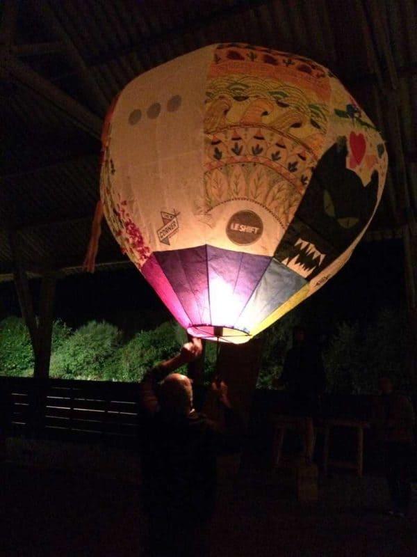 Bertrand et la montgolfière