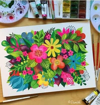 "Helen Dardik, ""Watercoloring"""