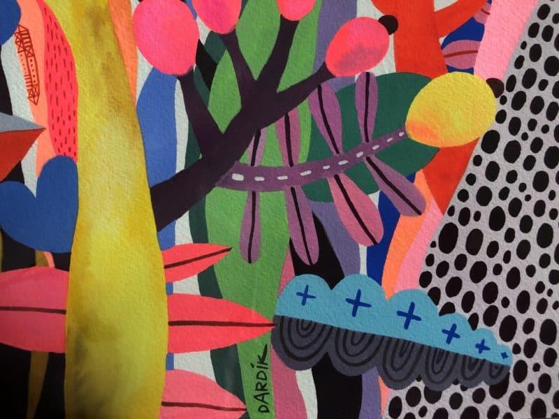Helen Dardik - Flower Jungle, détail